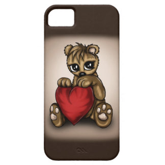 Amor del peluche funda para iPhone 5 barely there