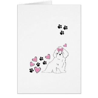 Amor del perrito tarjetas