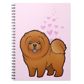Amor del perro chino de perro chino libro de apuntes