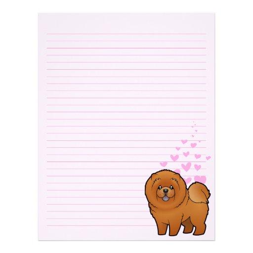Amor del perro chino de perro chino membrete a diseño