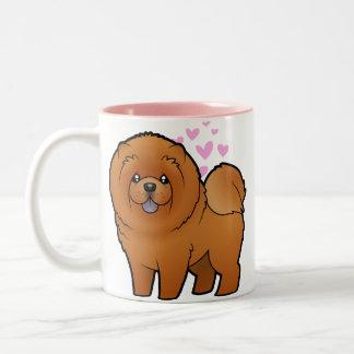 Amor del perro chino de perro chino tazas