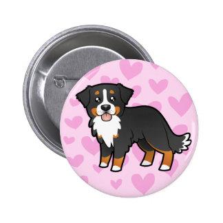 Amor del perro de montaña de Bernese Pin Redondo 5 Cm