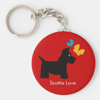 Amor del perro del escocés llaveros