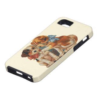 Amor del perro del perrito de la tarjeta del día d iPhone 5 Case-Mate protector
