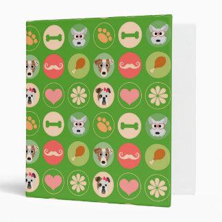 Amor del perro en verde