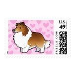 Amor del perro pastor/del collie de Shetland Estampillas