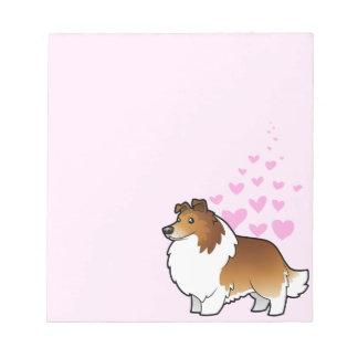 Amor del perro pastor/del collie de Shetland Libretas Para Notas