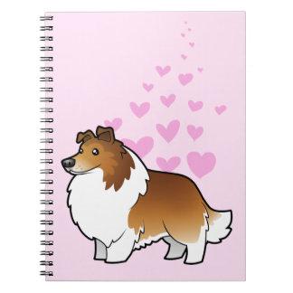 Amor del perro pastor/del collie de Shetland Libros De Apuntes