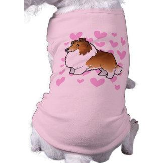 Amor del perro pastor/del collie de Shetland Ropa Macota