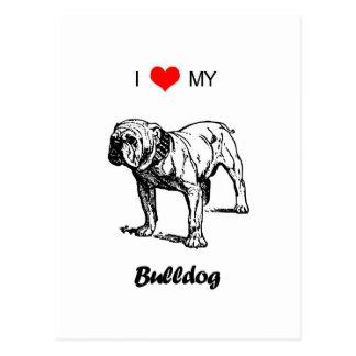 Amor del personalizado I mi corazón del dogo Tarjetas Postales