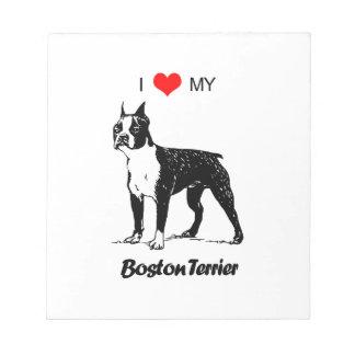 Amor del personalizado I mi corazón del perro de Bloc De Notas