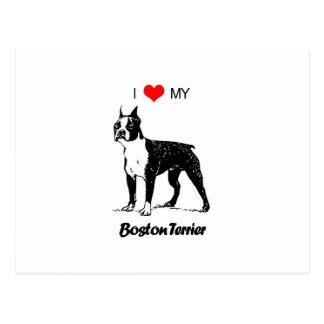 Amor del personalizado I mi corazón del perro de Postal