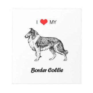Amor del personalizado I mi corazón del perro del Bloc De Notas