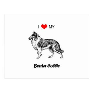 Amor del personalizado I mi corazón del perro del Tarjeta Postal