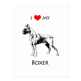 Amor del personalizado I mi corazón del perro del Tarjetas Postales