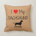 Amor del personalizado I mi Dachshund Cojines