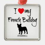 Amor del personalizado I mi dogo francés Ornatos