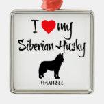 Amor del personalizado I mi husky siberiano Adorno