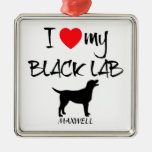 Amor del personalizado I mi laboratorio negro Adornos