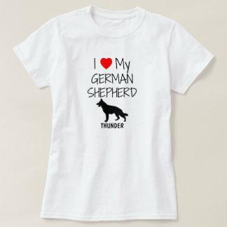 Amor del personalizado I mi pastor alemán Camisas