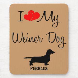 Amor del personalizado I mi perro Mousepad de Wein
