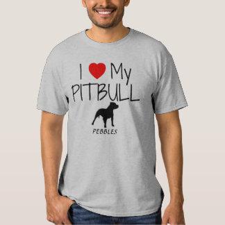 Amor del personalizado I mi Pitbull Poleras