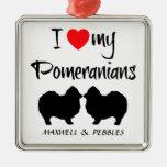 Amor del personalizado I mi Pomeranians Ornamentos Para Reyes Magos