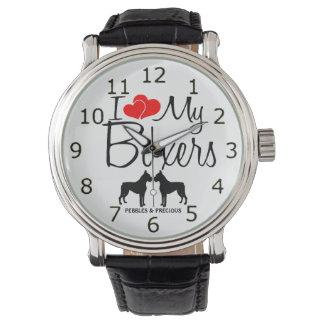 Amor del personalizado I mi reloj de dos