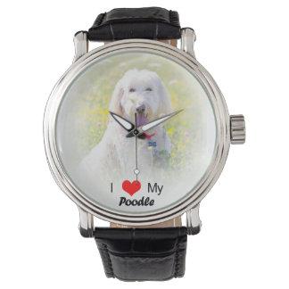 Amor del personalizado I mi reloj del caniche