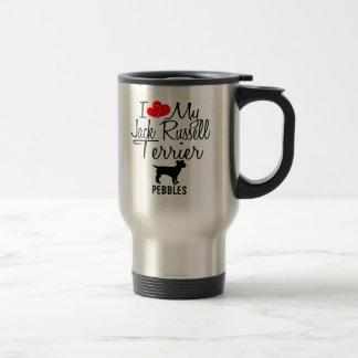 Amor del personalizado I mi taza de Jack Russell