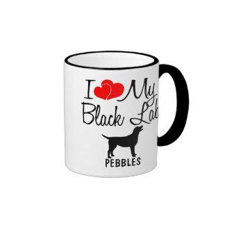 Amor del personalizado I mi taza negra del
