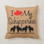 Amor del personalizado I mis cuatro Schipperkes Cojines