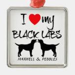 Amor del personalizado I mis laboratorios negros Ornamento Para Reyes Magos