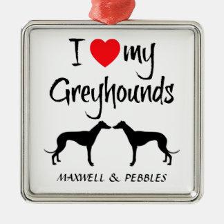 Amor del personalizado I mis perros del galgo Adorno De Reyes
