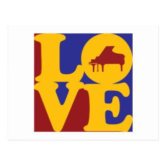 Amor del piano postal