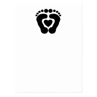 Amor del pie tarjetas postales