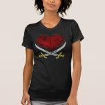 Amor del pirata camisetas