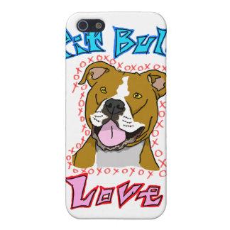Amor del pitbull iPhone 5 carcasa