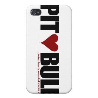 Amor del pitbull iPhone 4/4S fundas