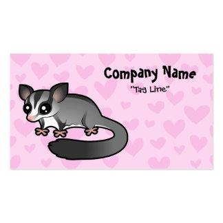 Amor del planeador del azúcar tarjeta personal