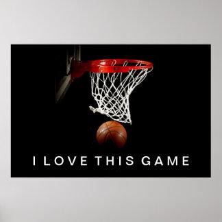Amor del poster I del baloncesto este juego