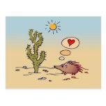 Amor del puerco espín postales