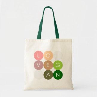 Amor del punto del vegano bolsa tela barata