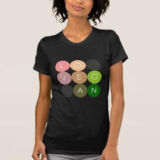 Amor del punto del vegano camisetas
