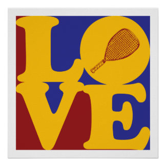 Amor del Racquetball Poster
