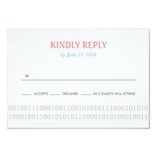 Amor del regulador del videojugador que casa RSVP Invitación 8,9 X 12,7 Cm