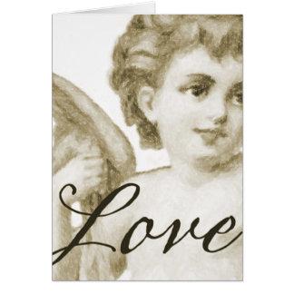Amor del renacimiento, sepia tarjeta
