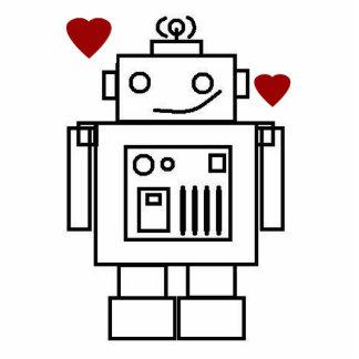 Amor del robot esculturas fotográficas