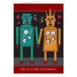Amor del robot felicitaciones