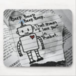 Amor del robot mouse pad